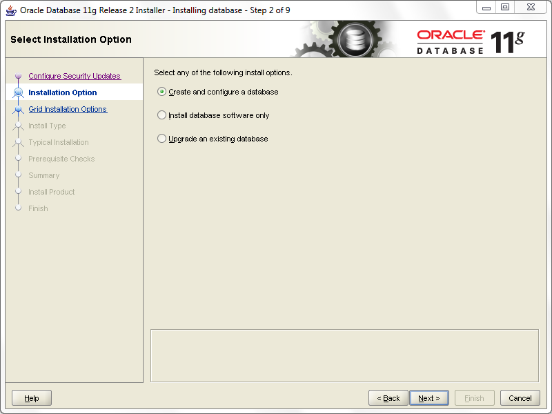 install oracle step 2