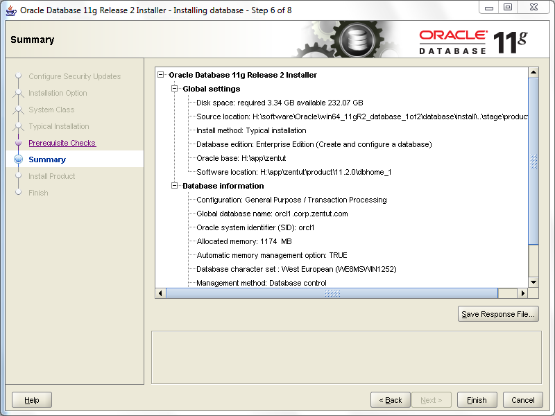 install oracle step 6