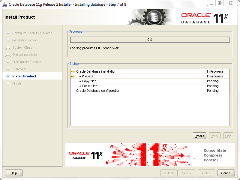 install oracle step 7