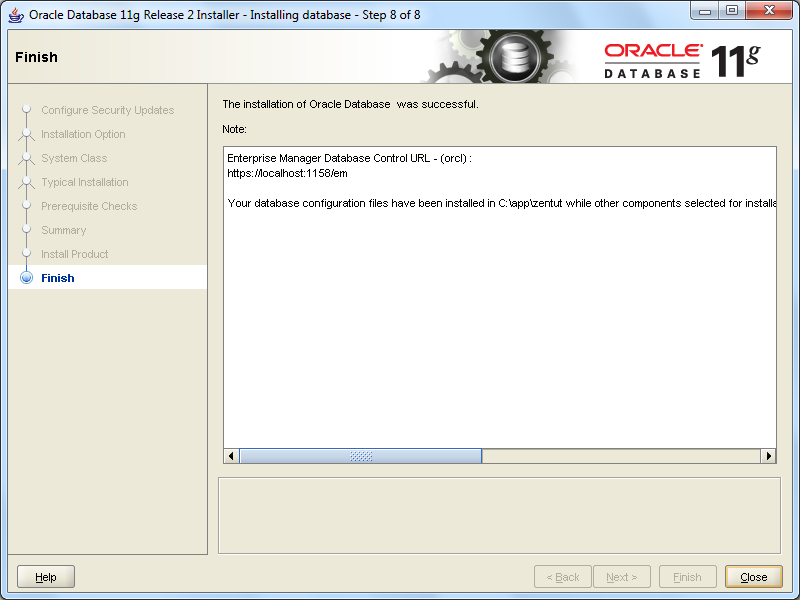 install oracle step 8